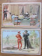2 Chromos Thé Royal CARPENTIER - Hamlet 4è Acte - Ruy Blas 3è Acte - 2 Scans - Thé & Café