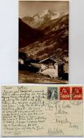 SWITZERLAND 1921 Paysage A Villa Sur Evolene Et Figne Postcard - Schweiz