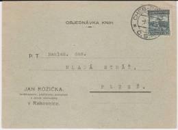 Bahnpost CSR Czech Rep Vlaková Pošta Cheb - Praha Kte 1928 - Tchécoslovaquie