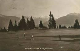 SWITZERLAND 1914 Montana Vermala Le Jeu Du Golf Photographic P - Schweiz