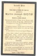 Faire-part De Décès De Mr. Martin-Joseph GUSTIN  FOOZ 1906  (sf65) - Esquela