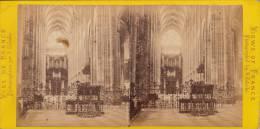 Photo Stéreo France Rouen Intérieur De L´église Saint Ouen Prise Du Choeur Par Valecke - Stereoscopic