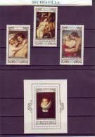 BULGARIA, RUBENS, 1977, 2336/38 + H.B. 71, PINT121 - Rubens