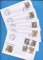 Suisse, Switzerland, Schweiz, Svizzera, FDC, 1999, Pro Juventute (6 Briefe - FDC