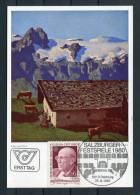 1980 Austria Salzburg Music Festival Alfons Walde Postcard - Music