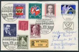 1980 Austria Salzburg Music Festival Registered Cover - Music