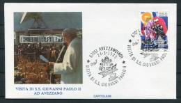 1985 Italy Pope John Paul 2 Avezzano Visit Cover - Popes