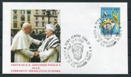 1986 Italy Israel Pope John Paul 2 Jewish Community Visit Cover - Popes