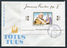 1983 Poland Warsaw Pope John Paul 2 Miniture Sheet Cover - Popes