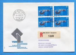 Suisse, Switzerland, Schweiz, ,  R-FDC, 1983, Verein CH-Machienen-Industrielle R Mit Ortstempel Zürich - FDC