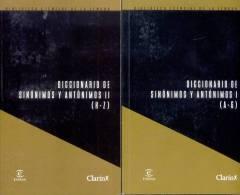DICCIONARIO DE SINONINOS Y ANTONIMOS 2 TOMOS ESPASA CLARIN 661 PAGINAS AÑO 2009 - Dizionari