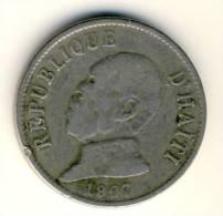 1907 Haiti 20 Centimes Coin In Very Good Condition - Haïti