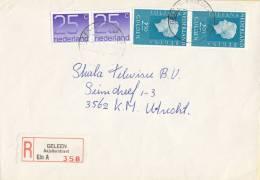 Nederland - Aangetekend/Recommandé Brief Vertrek  Geleen - Aantekenstrookje Geleen Anjelierstraat 358 - Poststempel