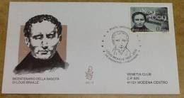 Busta FDC  - Bicentenario Della Nascita Di Louis Braille - FDC