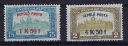 Hungary / Ungarn: 1918, Mi 210/211, MH/*
