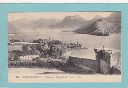 74  LAC  D' ANNECY.  -  5Talloires  Et  Chapelle  Du  Toron  -  1924  - BELLE CARTE  - - Annecy