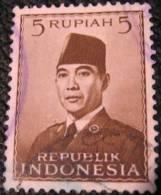 Indonesia 1951 President Sukarno 5r - Used - Indonesia