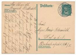 "GERMANY REICH POSTAL STATIONERY POSTAL CARD # P 175 I ""BAYREUTH"" (1928) - Interi Postali"
