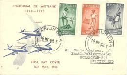 FDC 1960 In Die Schweiz Gelaufen - Nouvelle-Zélande