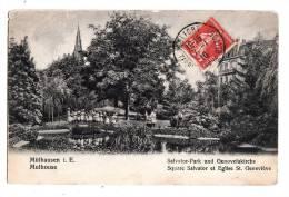 BR36876 Salvator Park Und Genovefakirche  Mulhausen Mulhouse   2 Scans - Muehlhausen