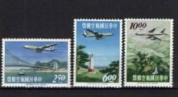Taiwan 1963 Mi. 495-497 MNH, Airplane Convair 880 Of CAT, City Views - 1945-... République De Chine