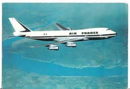 B71400 Boeing 747  Air France  Plane Plan   2 Scans - 1946-....: Moderne