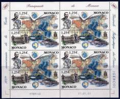 """Monaco Feuille YT 2391 Et 2392 Paires """" 100 Ans De La GEBCO """" 2003 Neuf** - Mónaco"""