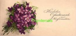 CPA MIGNONETTE ILLUSTRATEUR MEISSNER & BUCH FLEURS  ** ARTIST DRAWN SIGNED SMALL CARD FLOWERS - Communion