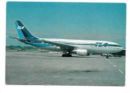 B71510  Airbus A 300 B 1 Trans European Airway TEA  Plan Airplane     2 Scans - 1946-....: Moderne