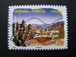 OBLITERE FRANCE ANNEE 2009 SERIE FLORE DES REGIONS DU SUD N°305 LE THYM SAUVAGE LANGUEDOC ROUSILLON ADHESIF AUTOCOLLANT - Gebruikt