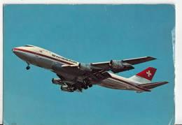 B71526 Boeing 747-257B Der Swissair  Avion  Airplane     2 Scans - 1946-....: Moderne