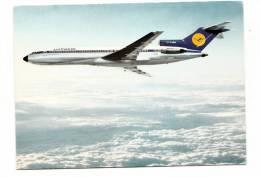 B71537 Lufthansa Boeing 727 Europa Jet   Avion  Airplane     2 Scans - 1946-....: Moderne
