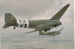 B71632 Douglas C 47 Skytrain Sky Trooper   Airplane Avion   2 Scans - 1946-....: Moderne