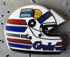 PIN´S CASQUE F1 FORMULA ONE USA PILOTE GROHS AGGREKO BILSTEIN EGF MFS VARIANTE - F1