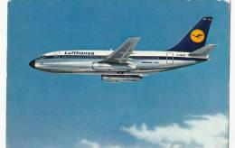 B71690  Lufthansa Boeing 737 City Jet Plan Airplane     2 Scans - 1946-....: Moderne