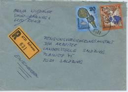 Einschreibe-Brief Reco Schwaz-Salzburg MiFr 1995 - 1945-.... 2. Republik