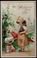 1898 !! LIEBIG SANG. 558 Nr 2. JEUNESSE HEUREUSE - ENFANT - FILLE - FILLETTE - PARAPLUIE - GIRL GERMAN SERIE - Liebig