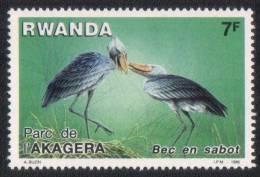 RWANDA 1986 MNH PARC DE I´ AKAGERA BEC EN SABOT BIRD BIRDS - Rwanda