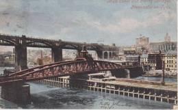 Cpa--vintage-postcard-uk- Newcastle-high Level And Swing Bridges-1903 - Newcastle-upon-Tyne