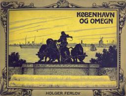 Old Album  1906.    KOBENHAVN OG OMEGN    B.M. & CO.'s FORLAG  Include :  32 IMAGES   Size : 31 X 23 Cm - Old Paper