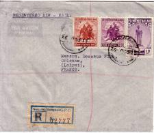 THAILANDE-LETTRE RECOMMANDEE EN EXPRESS PAR AVION DE BANGKOK DU 26-10-1955. - Thailand