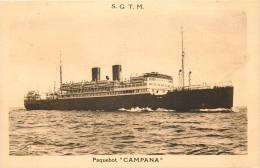 PAQUEBOT CAMPANA S.G.T.M.  AMERIQUE DU SUD PAR MARSEILLE - Dampfer