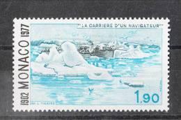 Monaco   -   1977.  La Nave A Vapore  Tra I Ghiacci.  Ship Between The Ice.  MNH, Freschissimo - Navi Polari E Rompighiaccio