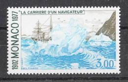 Monaco   -   1977.  La Nave Princesse Alice  Tra I Ghiacci.  High Value Of The Set.  MNH, Freschissimo - Navi Polari E Rompighiaccio
