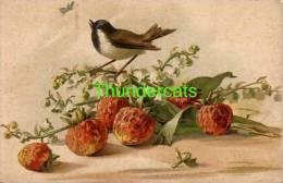 CPA CARTE LITHO FLEURS OISEAUX   ** KOPAL ** LITHO CARD FLOWERS BIRDS - Birds