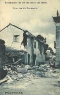 PORTUGAL - BENAVENTE - TERRAMOTO DE 23/04/1909 - UMA RUA - 1910 PC - Santarem