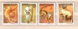 Bulgarie  / BULGARIA  1998   CATS / Chats   4v.-MNH - Domestic Cats