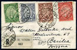 VATICAN 1933 - Registered Cover To Basel (Switzerland) - Vatican