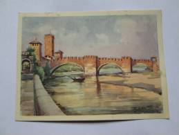 VERONA PONTE CASTEL VECCHIO ILLUSTRATA - Verona