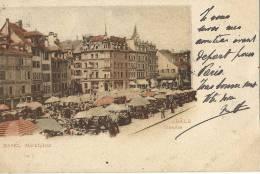 210Si     Suisse Basel Marktplatz Colorisée - BS Bâle-Ville